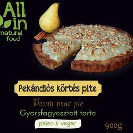 ALL IN natural food - paleo és vegán pekándiós körtés pite