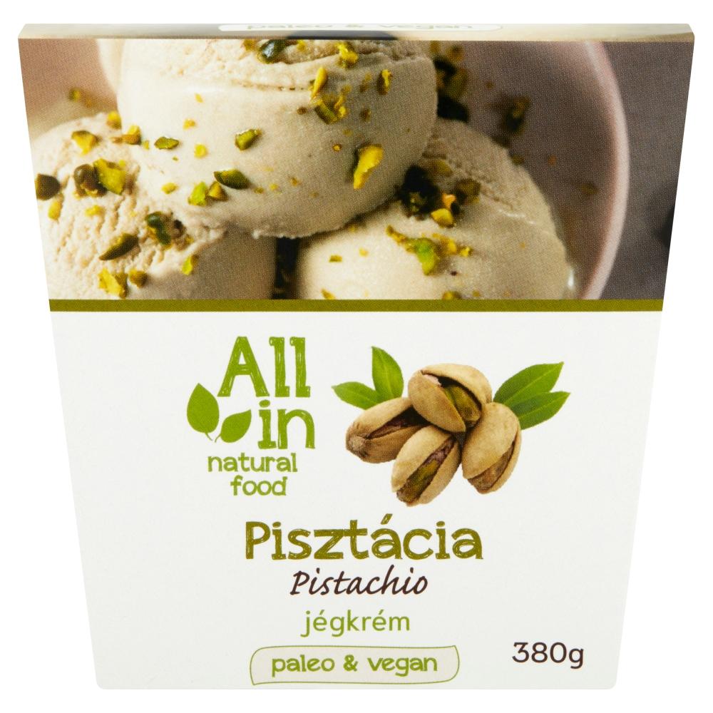 ALL IN natural food - paleo és vegán pisztácia jégkrém, fagylalt